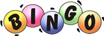 The word Bingo spelled out on bingo balls in yellow, pink, blue, green, and orange
