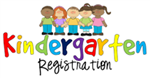5 students holding hands above the words Kindergarten Registration