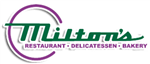 Milton's Logo with the words restaurant, delicatessen, & bakery below the name