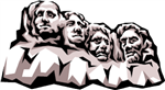 Clip Art of Mount Rushmore with presidents faces