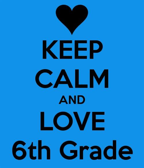 "blue photo with heart with quote ""keep calm & love 6th"""