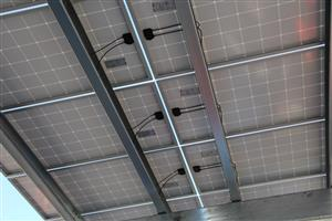 Solar Panel Array underside