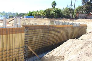 Forms for retaining wall