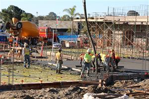 Concrete pour at Kindergarten classrooms