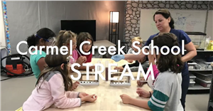 STREAM activity with teacher and students