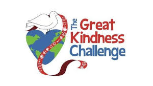 great kindness challenge logo dove standing on a heart with a ribbon