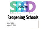 Reopening Schools Board Update Graphic