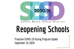 Reopening Schools Presentation on Testing September 10, 2020