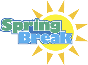 Spring Break headline over sun clipart