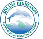 Solana Highlands Dolphin Logo with the words california distinguished school