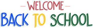 Welcome Back To School in Red, Blue, Yellow, & Green Colors