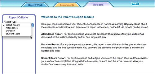 Parent's Report Module