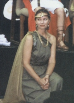 Former teacher dressed as an Ancient Egyptian
