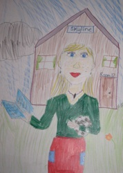 student drawn image of Mrs. Erin
