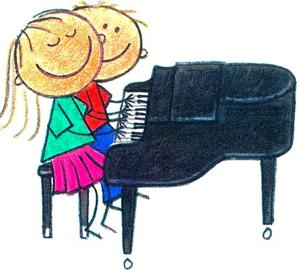 piano duet - clipart by Me And My Big Ideas