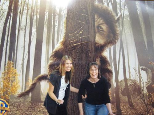 my mom and me with the wild things backdrop