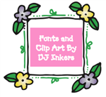 Fonts and clip art by DJ Inkers