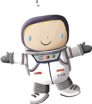 Cartoon astronaut