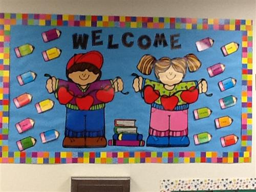class welcome sign