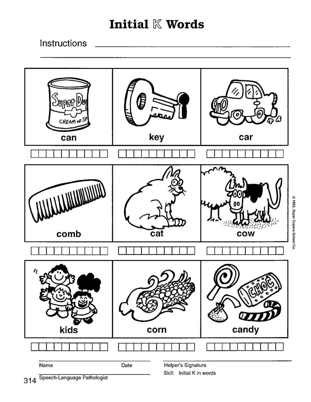 Worksheet Preschool Words preschool speech home practice materials speech