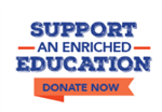 SBFL Logo asking for donations to support an enriched education.