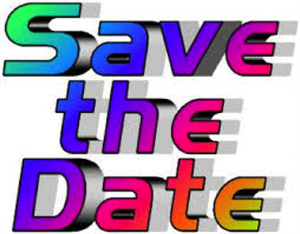 Save the date in a rainbow of colors.