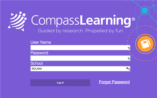 Compass Learning Login Screen Image