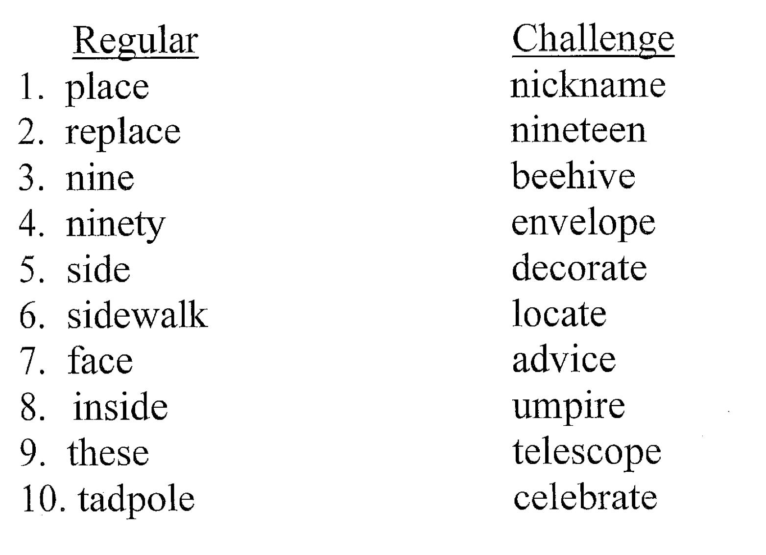 worksheet Second Grade Spelling Words similiar 10 spelling words for 2nd graders keywords grade information second homework and words